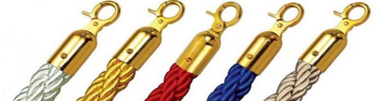 червено велурено въже за колче синьо въже черно велурено въже