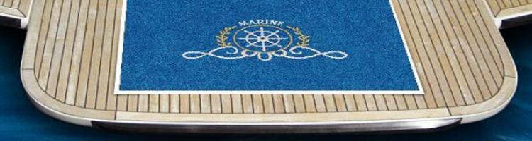 ταπέτα με λογότυπο για γιοτ лого отирачи logo mat logo carpet изтривалка с дизайн