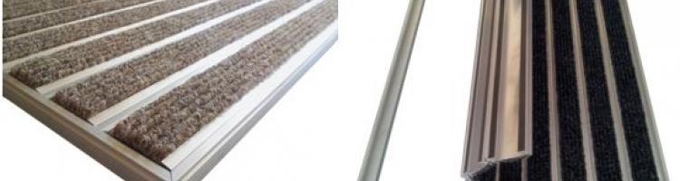 изтривалка с мокет алуминиева широк профил 60 мм. алуминиеви изтривалки
