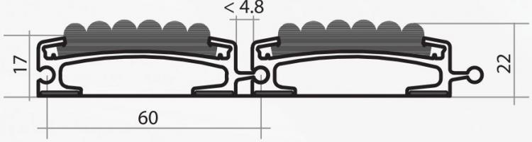 Серия HD 60 mm алуминиеви входни системи алуминиеви профили с вложка за вграждане в пода