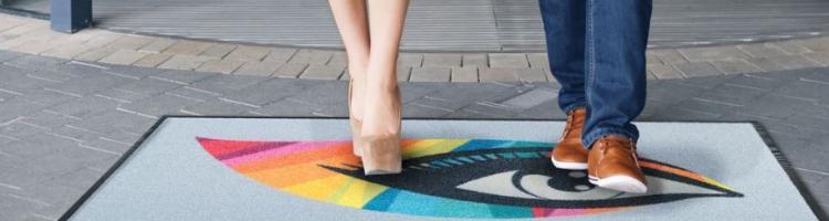 изтривалки пътека изкуствена трева цветна лого изтривалка за външна употреба