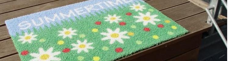 изкуствена трева за офис изкуствена трева изтривалка синтетична трева с лого изображение изтривалка от изкуствена трева цветна изтривалка с гумирана основа