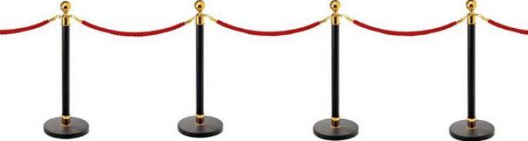 колчета с въжета разделителни колони с въжета ограждения с въжета и лента