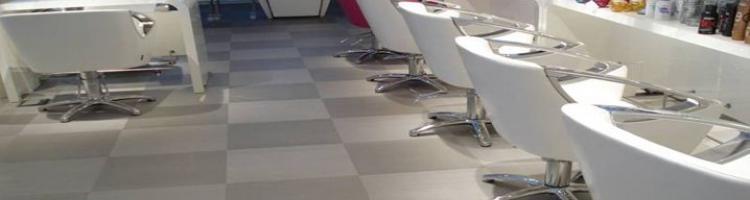 настилка за фризьорски салон настилка за съблекални настилки за СПА центрове