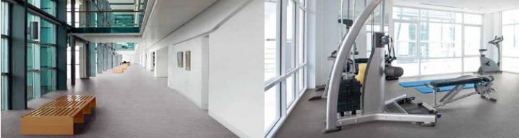 хетерогенни настилки за фитнес и обществени сгради настилка за зали за мероприятия