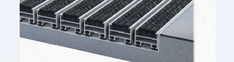 алуминиеви изтривалки отворени профили за преминаване на боклуците в леглото
