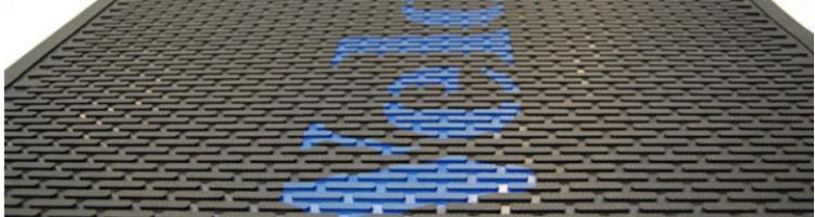 лого изтривалка, изработка на лого изтривалки от гума гумени изтривалки с надпис и лого изработка на гумени каучукови изтривалки
