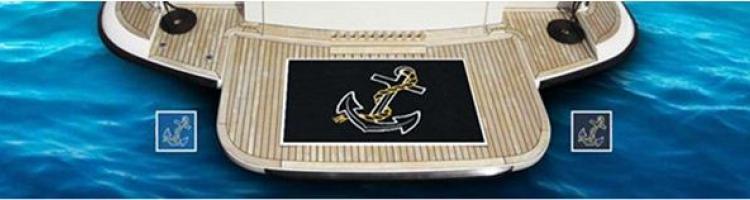 лого изтривалки за яхти, кораби, изтривалка за лодка, килим за яхта