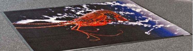 рекламен килим с гумена основа за събития панаири изтривалки за щандове панаири изложения