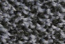 Black steel входна изтривалка сива с гумена основа