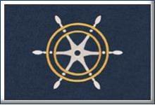 лого изтривалка за яхта изтривалки с втъкана картина