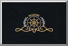 design mat yaht изтривалка с лого щурвал за кораби морски щурвал