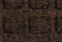 Brown 003 кафява оребрена текстилна изтривалка полипропилен с гумена основа