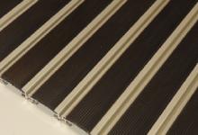 HD60 rubber алуминиева система с гумени вложки изтривалки алуминиеви с вложки гума изтривалка с алуминиеви профили с гумена вложка за вграждане