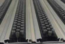 L45 brush active  алуминиеви изтривалки с нисък профил алуминиеви изтривалки без вграждане изтривалка от алуминиеви профили а четки полиамид за отстраняване на мръсотия от подметките изтривалки с четки по поръчка без вграждане