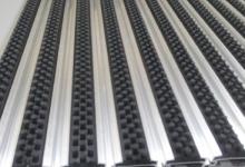HD40 brush алуминиеви изтривалки с четки изтривалки с алуминиеви профили с гума и четки изтривалки от алуминий и гумена вложка с полиамидни четки за отстраняване на мръсотия и вода от подметките