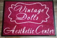 изтривалка изкуствена трева Vintage Dolls Aesthetic Center изработка на изтривалки стелки подложки с гумена основа каучукова основа полиамид 6.6