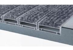 алуминиеви изтривалки отворени профили 50 мм. ширина на профилите мокет четка гума четчици полиамид бруш актив
