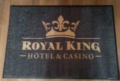 logo изтривалка с лого Royal King hotel kasino